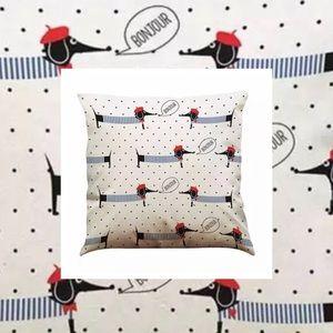 NWT Pillow Cover Dachshund ❤️ Bonjour Paris